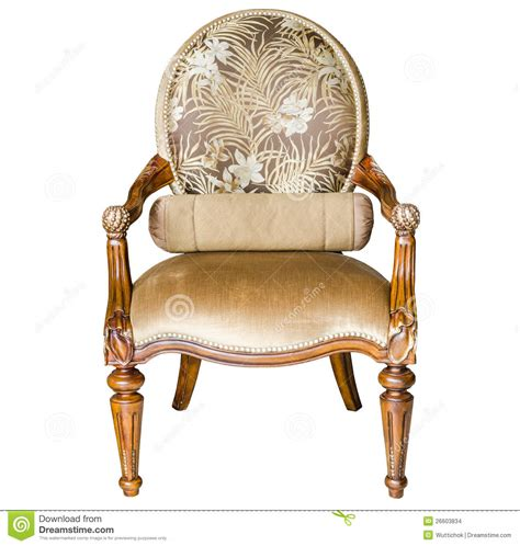 Leather Victorian Sofa by Classic Style Vintage Wooden Chair Stock Images Image
