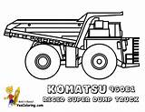 Dump Truck Coloring Pages Construction Komatsu Trucks Boys Excavator Rigid Digging Dirty Yescoloring 960e sketch template
