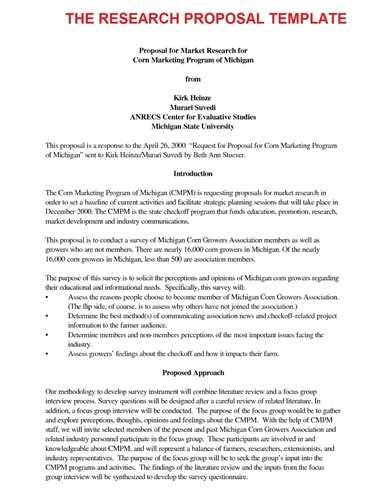 Proposal Example For Research Paper The Essay Expert Proposal