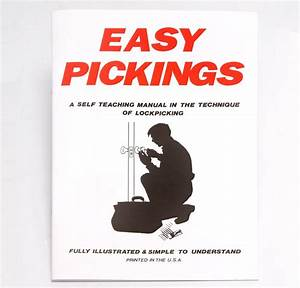 Easy Pickings Book  Lock Picking Guide