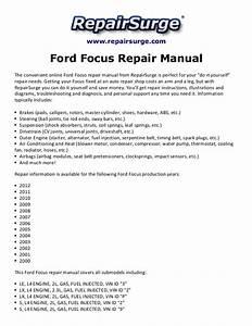 Ford Focus Repair Manual 2000