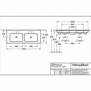 Schrank 100 X 50 : villeroy boch venticello schrank doppelwaschtisch 130 x 50 cm m hl o berlauf design in bad ~ Bigdaddyawards.com Haus und Dekorationen