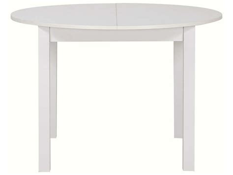 Table Ronde Avec Allonge 160 Cm Max Nova Coloris Blanc