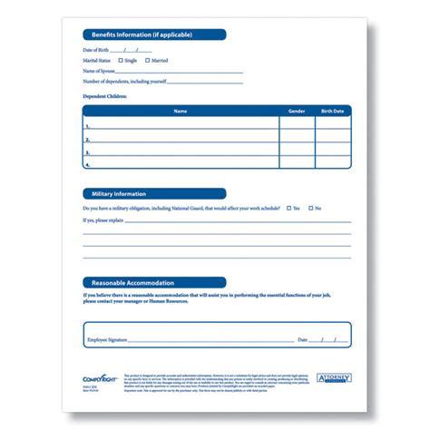 employment information sheet employee information form new calendar template site
