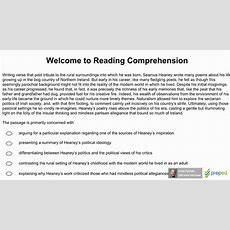 Gre Reading Comprehension 01  Welcome To Reading Comprehension Youtube