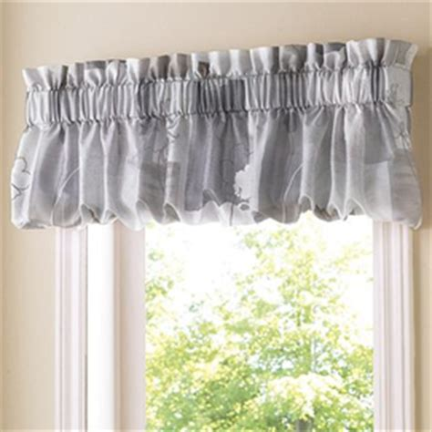 kitchen curtains sears canada whole home 174 md kitchen window leaves blouson valance