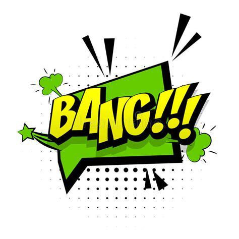 Comic Green Sound Effects Pop Art Word Bang Stock Vector