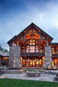 Mine Style Rustic Mountain Lodge Rustic Exterior
