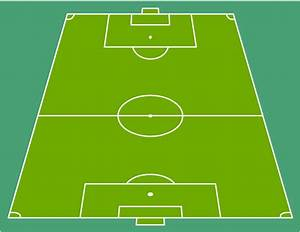 end zone view association football pitch template With soccer team positions template