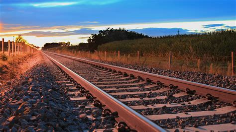 Free photo: Sunset railway - Abandoned, Path, Walk - Free ...