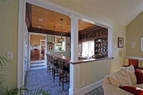 kitchen half wall ideas for dining kitchen half wall with column design pictures
