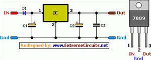 9 Volt 2 Ampere Dc Power Supply Circuit Diagram