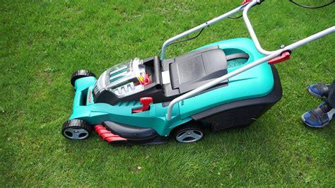 sound check bosch rotak 43 li rasenm 228 lawn mower
