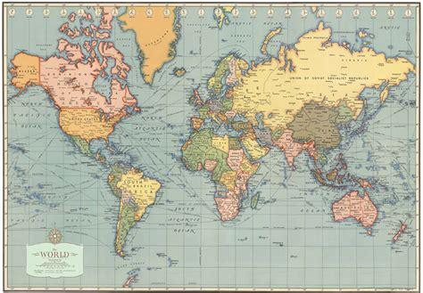 Carte Du Monde Gold A Imprimer by Home Office Vintage Posters 20 Quot X28 Quot World Map