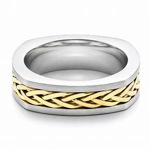 men39s braided two tone wedding band 100121 With mens braided wedding ring