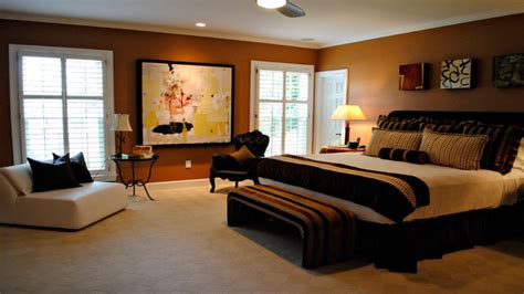 Bedroom Cream Brown Rust And Black Eclectic Designs