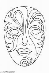 Mascaras Venecia Parapintarycolorear Africanas Fiestas Recortables Venecianas sketch template