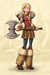 Astrid and her AXE by Jeff-Mahadi on DeviantArt