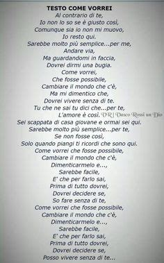 Come Vorrei Vasco Lyrics by Pin By Di Vasco On Dammi Una Mano Senorita
