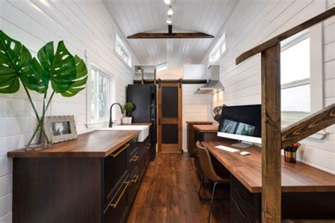 ft tiny house  home office
