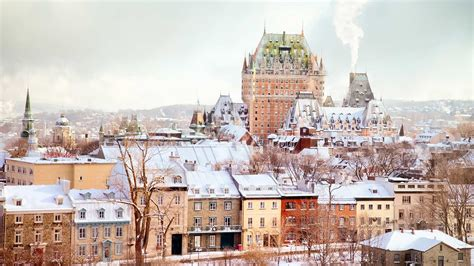 Winter Skyline Featuring The Château Frontenac Tower