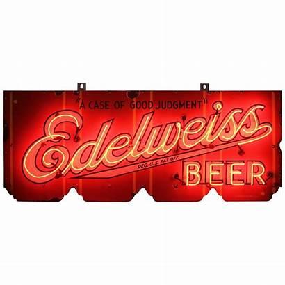 Beer Signs Sign Edelweiss Porcelain 1stdibs Folk