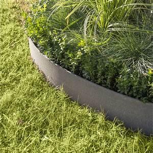 Bordure Jardin Pvc : bordure d rouler plastique gris ardoise x cm leroy merlin ~ Melissatoandfro.com Idées de Décoration