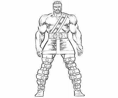 Coloring Hercules Pages Marvel Hades Character Drawing