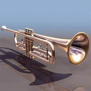 bass trumpet 3d model 3ds files free download modeling With what kind of paint to use on kitchen cabinets for musical instrument wall art