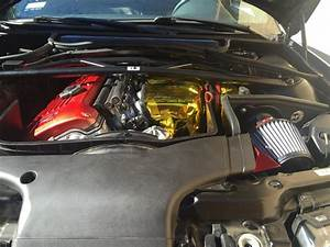Red And Gold Engine Bay Stuff - M3