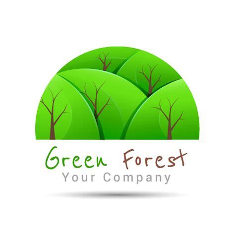 Green Forest Logo Design Vector Welovesolo