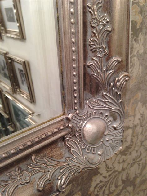 large antique silver shabby chic ornate decorative wall