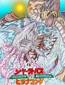 Sharktopus vs Piranhaconda Poster (Colored) by AVGK04 on ...