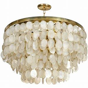 Captivating capiz shell chandelier at stdibs