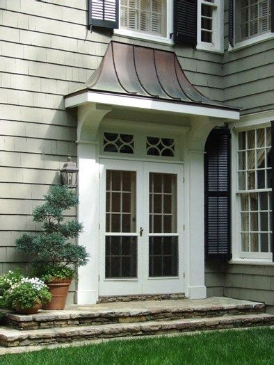swoop roof entry images  pinterest front door awning metal awning  copper roof