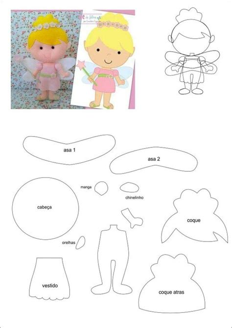 Tinkerbell Template Felt by Patterns Feltro And Angel On Pinterest