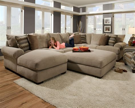 contemporary large sectional sofas  living room