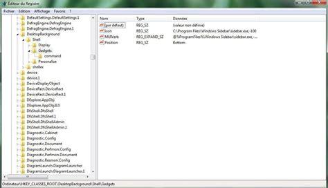 windows 8 bureau disparu supprimer le module gadgets du menu contextuel sous
