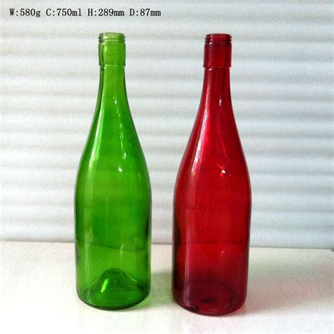 colored wine bottles 750ml colored glass wine bottles with cap wholesale