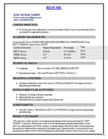 best resume format for freshers computer engineers pdf fresher resume format for b tech cse resume format