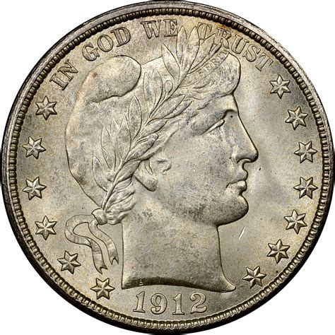 coin values 1912 d 50c ms barber half dollars ngc
