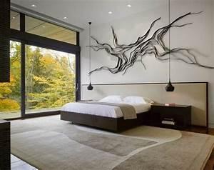 chambre adulte blanche 80 idees pour votre amenagement With deco murale chambre adulte