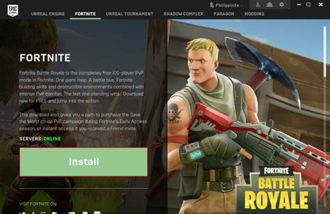 install fornite game  epic games  ccboot
