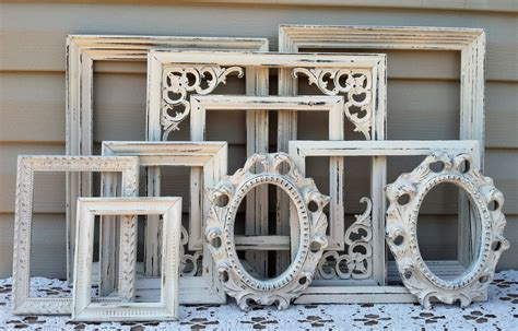 shabby chic wall photo frames white victorian open frame collection shabby chic wall