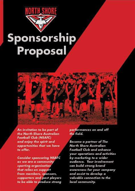 sponsorship proposals north shore bombers sportstg