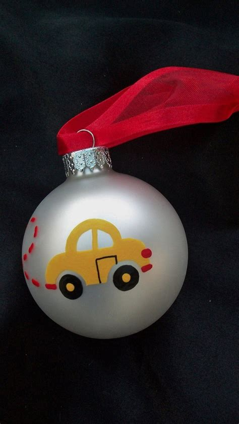 vw beetle personalized christmas ornament hand painted