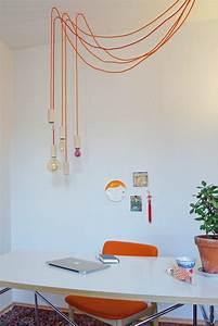 Weihnachtsbaumbeleuchtung Mit Kabel : lieblingsleuchte mit bunten textilkabeln selber bauen in ~ Watch28wear.com Haus und Dekorationen