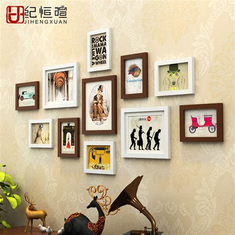 home interior picture frames cheap 11 pieces set wood picture frames set modern