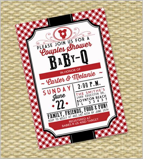 bbq invitation templates psd vector eps ai