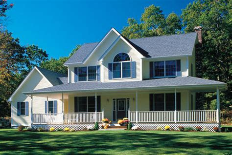 Two Story House With Wrap Around Porch by G24245 Wrap Around Porch 2 Story Home At Menards 174